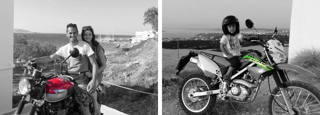Motorcycle rental on Paros rent a moto