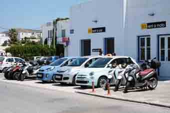 Rent a car Paros New entry - Paros Port Office.